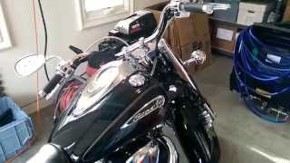 9. 2012 Yamaha Road Star 1700 S. Cobra slip on mufflers
