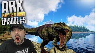 Ark Play As Dino Mod - Giganotosaurus Ep 5 - GLITCHIEST DINO EVER!