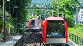 Kanagawa Japan  City pictures : Hakone Mountain Railway Kanagawa Japan [4K UHD] 箱根登山鉄道とアジサイ The Beautiful Scenery of Japan