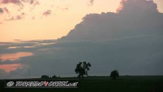 June 15, 2011 Illinois Twilight Supercell Time Lapse