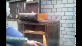 Очистка содой старой мебели