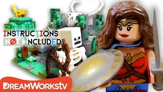 Wonder Woman in Minecraft LEGO Mashup: Jungle Temple of Ares | INSTRUCTIONS NOT INCLUDED