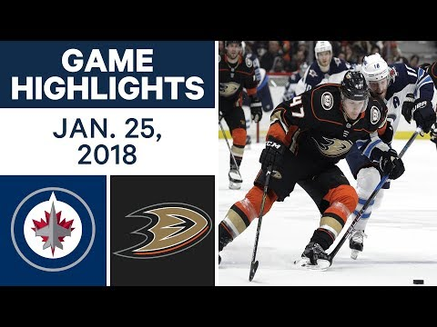 Video: NHL Game Highlights | Jets vs. Ducks - Jan. 25, 2018
