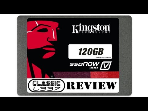 120gb - This is a video review of the Kingston SSD 120gb (SSDnow V300). The review was produced by Scott from Classic L337. Kingston SSD 120gb (SSDnow V300: http://w...