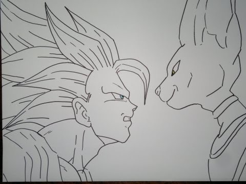 Goku vs bills para colorear  Imagui