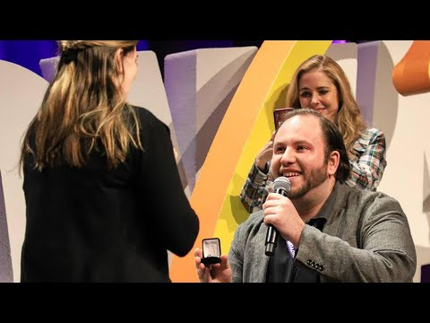 Man Proposes on Stage in Front of Shocked Celebrities