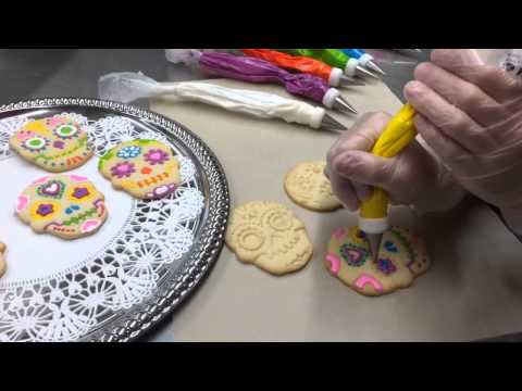 The Making of Dia de los Muertos Sugar Skull Cookies