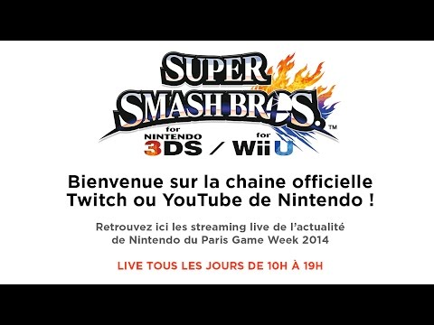 DE - Entrez dans l'arène ! Championnat de France Super Smash Bros. for Wii U et 3DS en direct de la Paris Games Week 2014 ! De 10:00 à 19:00 du 29 Octobre au 2 Novembre. Programme du Nintendo...