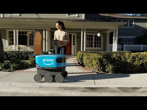Amazon, Scout, robot, delivers parcels