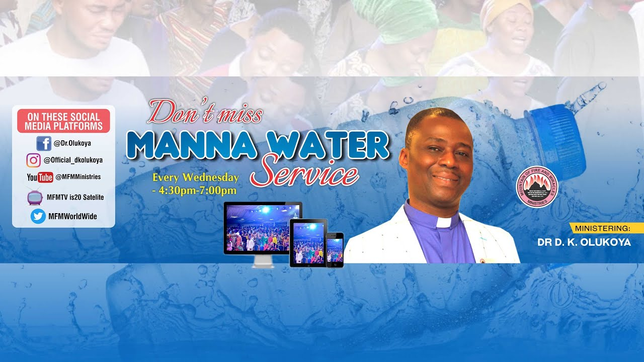 MFM Manna Water Service For 18th November 2020 Live with Pastor D. K. Olukoya