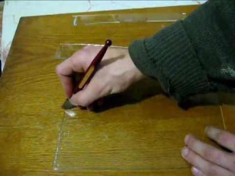 Как разрезать толстое зеркало в домашних условиях видео