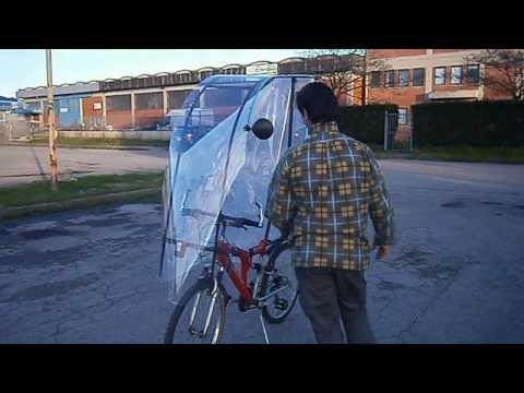 bicicletta con cappotta antipioggia rain bike winter cycling rain mountain