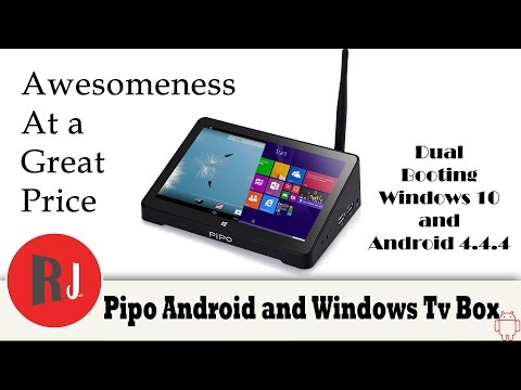 Pipo X8 Dual booting windows 10 and Android 4 4 4 TV Box with touch screen