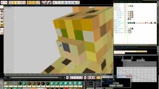 (Timelapse) Making background (Minecraft style)