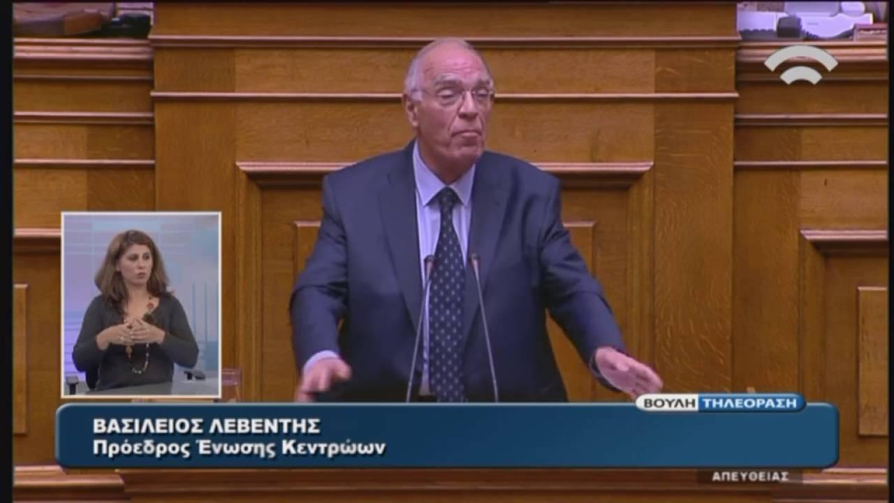 Β.Λεβέντης(Πρόεδρος ΕΝΩΣΗ ΚΕΝΤΡΩΩΝ)(Εφαρμογή της Συμφωνίας Δημοσιονομικών Στόχων)(22/05/2016)