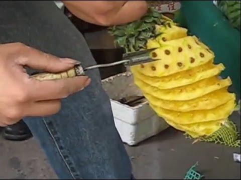 原來『鳳梨』也能這樣削!保留最多果肉的切鳳梨方式