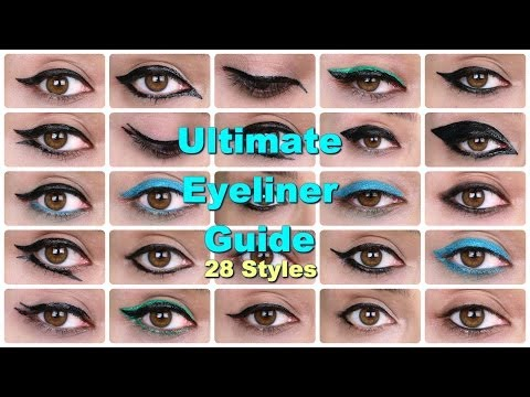 tutorials - It's an ultimate eyeliner tutorial guide! I've got 28 different eyeliner looks, and how to create these eyeliner styles with lots of eyeliner tips and tricks...