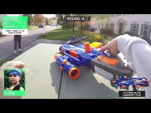 Nerf War:  Parents against Kids 2!