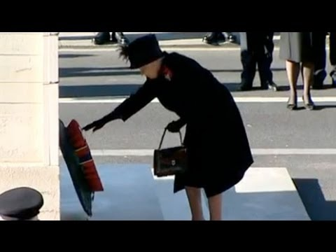 rememberance day - The country fell silent today to remember its war dead at services across the country as the Queen led the nation in honouring the fallen.