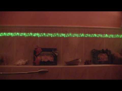 Oświetlenie światłowodowe do ściany