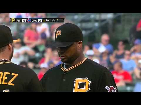 Francisco Liriano y su espectacular recepcion de la bola