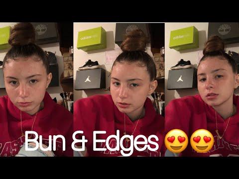 How I Do My Bun/Edges 😍    @officialmere (видео)