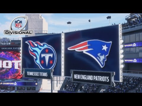 (4K60FPS) 2018 AFC Divisional Round Full Game (Tennessee Titans/NE Patriots) | Madden NFL 18