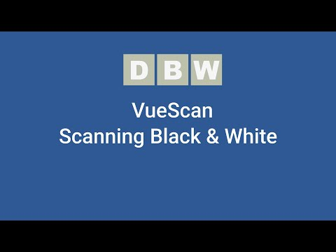 Scanning Black and White Negative With VueScan