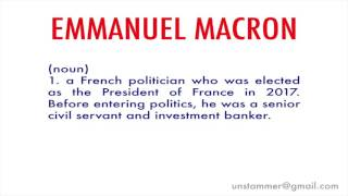 Video How to Pronounce Emmanuel Macron MP3, 3GP, MP4, WEBM, AVI, FLV September 2017