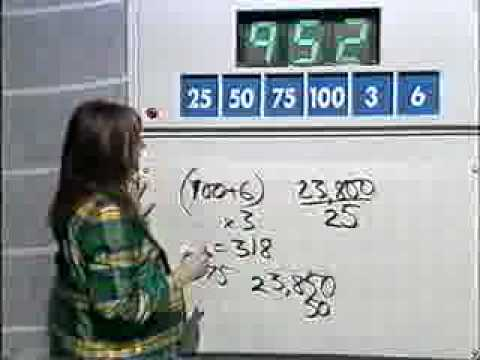 Countdown - From 1997 - James Martin's Numbers Game - This has got to be the most amazing numbers game answer ever - This video was originally hosted on another account....