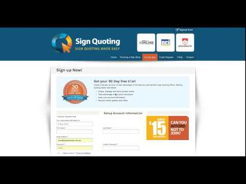 2. Sign Quoting Video Free 30 day Software Trial
