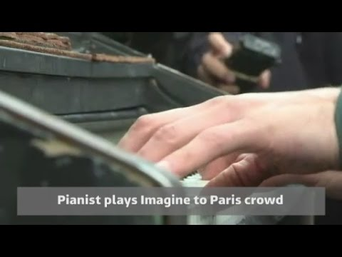 Pianist performs John Lennon s Imagine after Paris