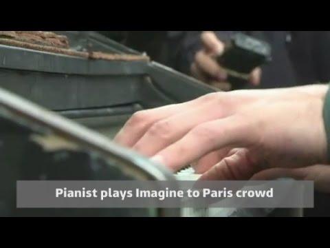 Pianist performs John Lennon s Imagine after Paris