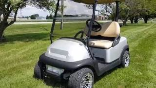 6. Silver Bullet Golf Cart Club Car Precedent Electric With Custom Paint
