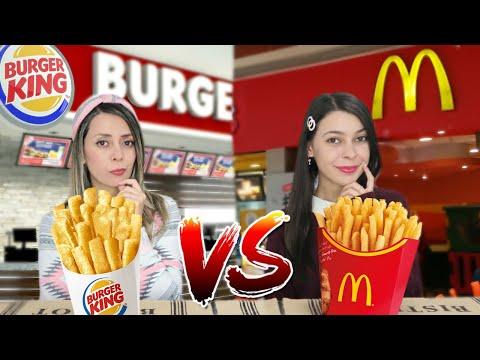BATALHA DE FAST FOOD | Mc Donald's Vs Burger King