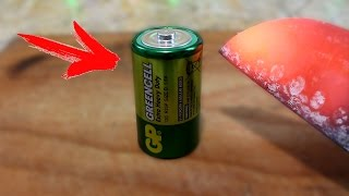 EXPERIMENT Glowing 1000 degree KNIFE VS BATTERY