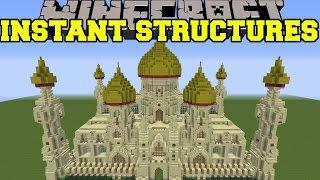 Minecraft: INSTANT STRUCTURES (EPIC PALACE, BETTER HOUSES, UNIQUE STRUCTURES,&MORE!) Mod Showcase