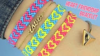 DIY Heart Friendship Bracelets - YouTube