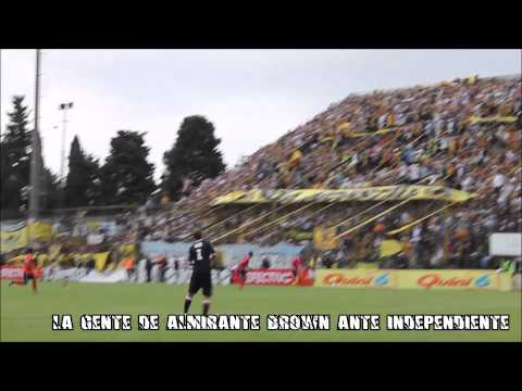 La hinchada de Almirante Brown ante Independiente (2013) - La Banda Monstruo - Almirante Brown