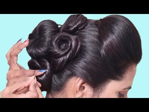 Wedding guest hairstyle in just 1 Minutes  Bun hairstyles for long hair  hair style girl