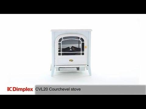 Dimplex Courchevel Matt White Optiflame® Electric Stove