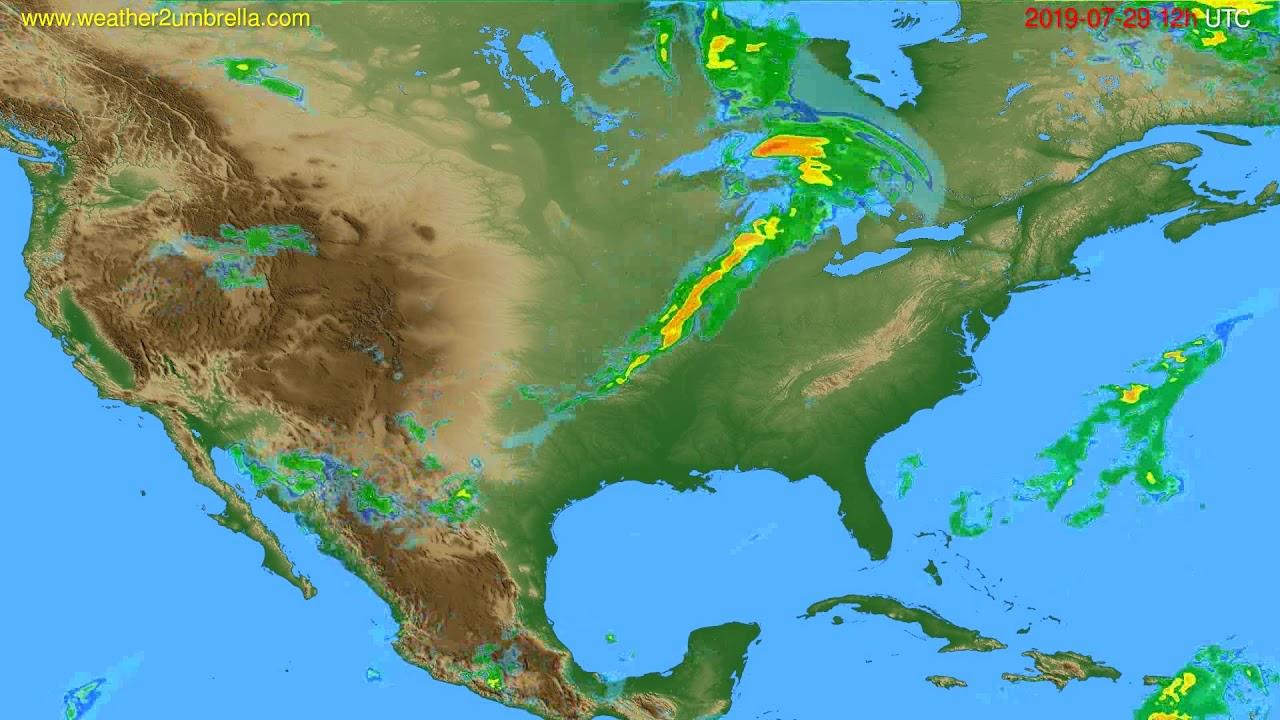 Radar forecast USA & Canada // modelrun: 00h UTC 2019-07-29