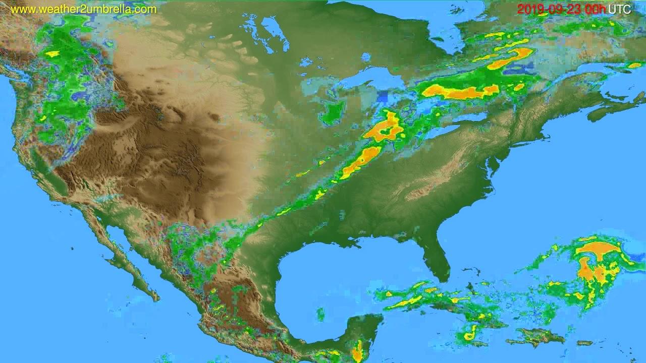 Radar forecast USA & Canada // modelrun: 12h UTC 2019-09-22