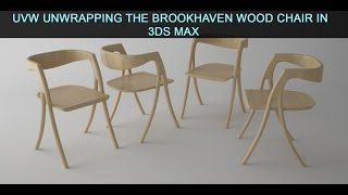 In this video we are going to go over how to UVW unwrap the wood chair that we modeled in the previous video in 3ds Max.