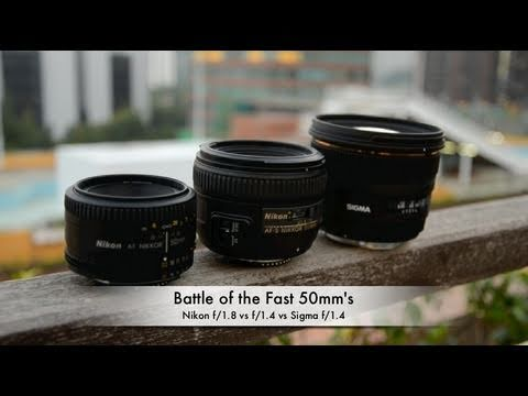 Battle of the Fast 50mm's: Nikon f1.8 vs f1.4 vs Sigma f1.4