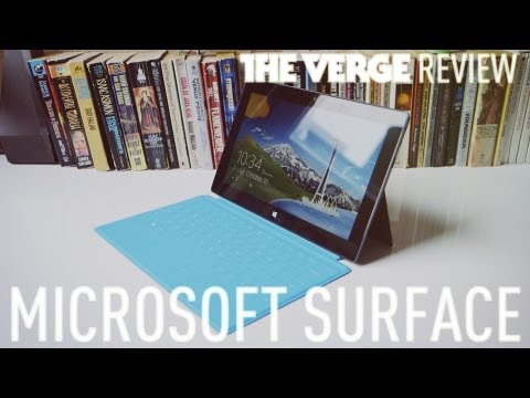 Surface - Joshua Topolsky takes a look at Microsoft's first Windows RT tablet. Read the full review here: http://www.theverge.com/2012/10/23/3540550/microsoft-surface-...