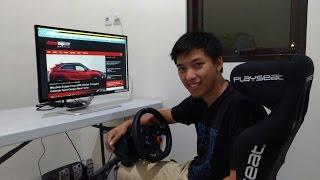 Bikin Setup Game Racing Pakai Playseat, Logitech G29 dan Monitor AOC