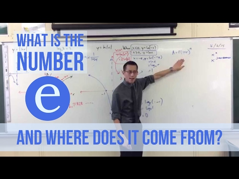 "What is the number ""e"" and where does it come from?"