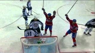 3 Buts du Canadiens en 50 secondes! Winnipeg vs Montreal (04/01/2012) - YouTube