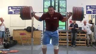 290kg Squat With No Hands